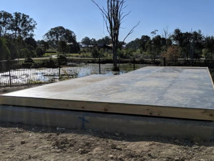My builder wants a cover over my pool before they start building
