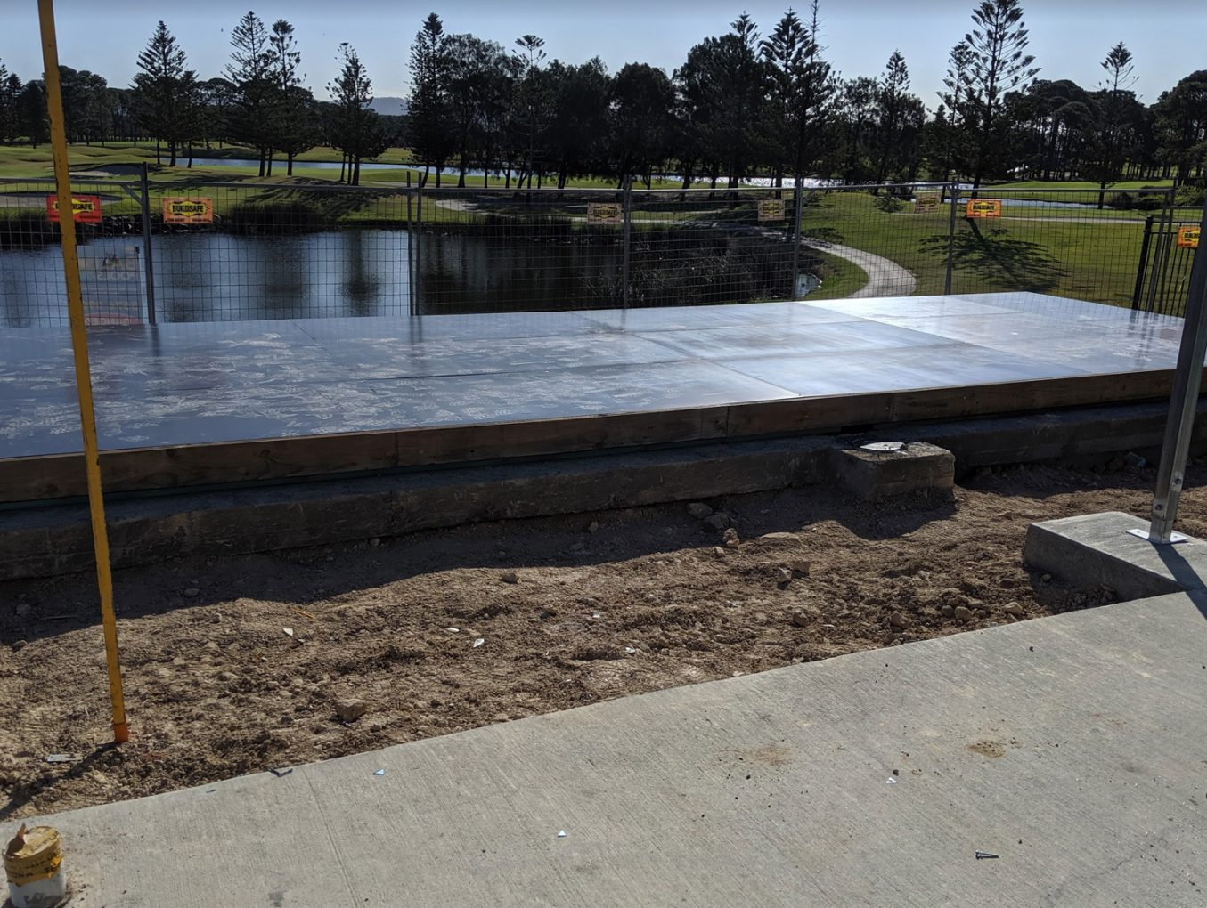 Pool Void Cover Installation at Sanctuary Cove